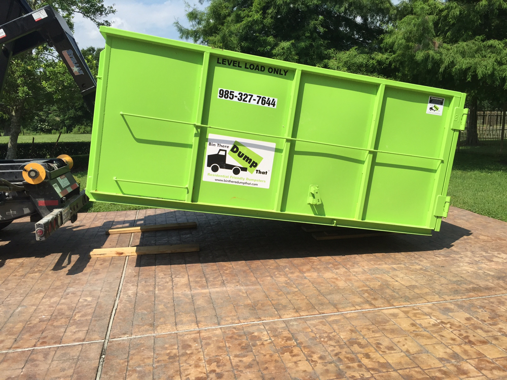 Clean up your yard this spring with a residential-friendly dumpster from Bin There Dump That